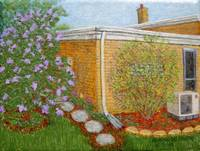 Path by the Lilac Bush Painting