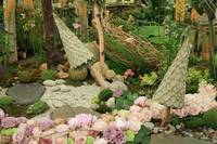 Woodland floral display