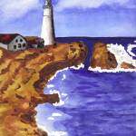 """Maine Lighthouse"" by PoeticBrush"