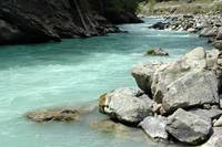 Swiss wild river