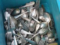 Turquoise Box of Silverware