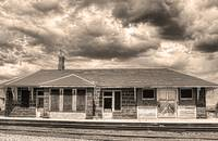 The Old Train Stop  in Sepia