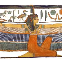 Maat with Outstretched Wings Art Prints & Posters by Ben Morales-Correa