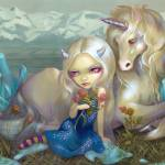 """Fiona and the Unicorn"" by strangeling"