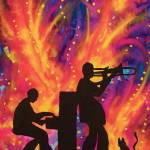 """Playing Jazz For Kitty"" by neworleansartist"
