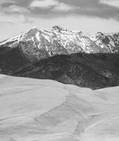 Sangre de Cristo Mountains and The Sand Dunes BW V