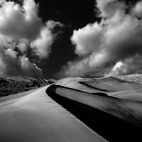 """SAND DUNES BLACK ; WHITE"" by Alex-Vacca-Photography"
