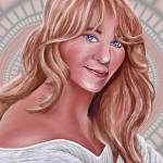 """Practice Portrait Painting of Goldie Hawn"" by stephenthedigitalartist"