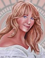 Practice Portrait Painting of Goldie Hawn