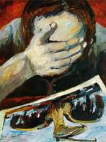 Agony BP Disaster Oil Painting by Ginette Callaway