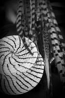 Feathers and Straw Basket - Tijuana, Mexico - 2009