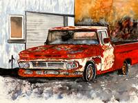 Old Truck Antique Vintage Chevy Painting