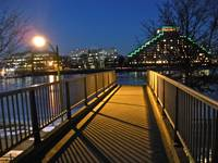 Storrow Drive Footbridge at Dusk