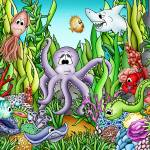 """Ocean with Octopus"" by just4mebooks"