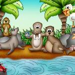 """Beach with Walrus"" by just4mebooks"