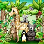 """Zoo Animals with Giraffe"" by just4mebooks"