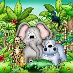 """Zoo Animals with Elephant"" by just4mebooks"