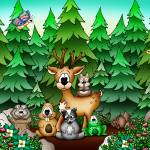 """Forest Animals with Deer"" by just4mebooks"