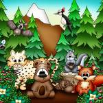 """Forest Animals with Bear"" by just4mebooks"