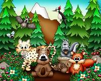 Forest Animals with Bear