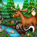 """Forest Animals with Moose"" by just4mebooks"