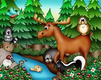Forest Animals with Moose