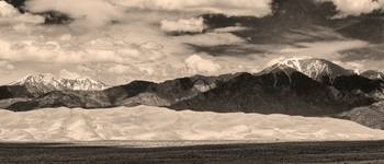The Great Sand Dunes Panorama 2 Sepia