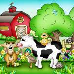 """Farm Animals with Cow"" by just4mebooks"