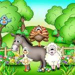 """Farm Animals with Donkey"" by just4mebooks"