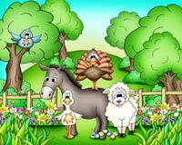 Farm Animals with Donkey