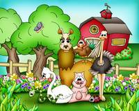Farm Animals with Llama