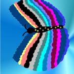 """Rainbow Butterfly"" by JoyLyn"