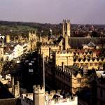 """High Street and Magdalen CollegeTower"" by MichelleLambert"