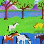 """Horses Hanging around the Pool"" by JoyLyn"