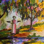 """""""Summer In The Garden Of Good And Evil Oil Painting"""" by GinetteCallaway"""