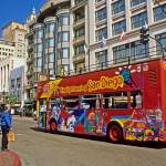 """San Diego Tour Bus CityScapes"" by kphotos"