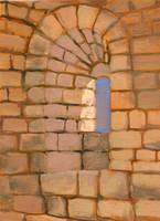 Window at chapelle st pierre masmolene france