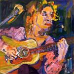 """Playing For Jimmy Oil Painting by Ginette"" by GinetteCallaway"