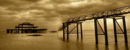 West Pier HDR Sepia