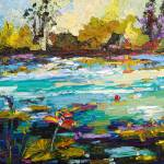 """Wetlands Oil Paintign by Ginette Callaway"" by GinetteCallaway"