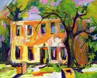 Horton House On Jekyll Island Georgia Oil Painting