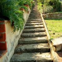 Garden Stairs in Florence Italy