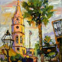 St. Michael's Church Charleston SC Oil Painting