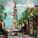 """St Phillips Church Charleston SC Oil Painting Gine"" by GinetteCallaway"