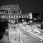 """B&W Colosseum at night"" by MarcoPoggioli"