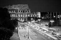 B&W Colosseum at night