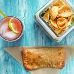 """Empanadas, Southwestern Layered Salad and Watermel"" by LynneDaley"