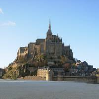 mont saint michel Art Prints & Posters by Cara & Steve Latchford
