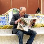 """old man reading the newspaper"" by VivianGerogianni"