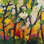 """Heat Rising Between The Pines Oil By Ginette"" by GinetteCallaway"